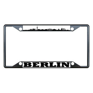 Berlin Flag Country Metal License Plate Frame Tag Border Four Holes