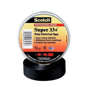 3m 33 3 4x66ft Scotch Super 33 Vinyl Electrical Tape 3 4 In X 66 Ft 5 Pack