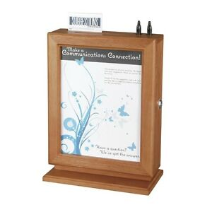 Safco Products 4236cy Customizable Wood Suggestion Box Cherry