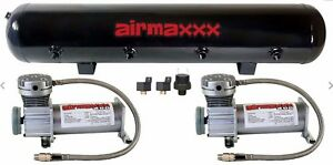 Air Compressors 400 Pewter Airmaxxx 5 Gallon Air Tank 200psi Air Suspension Kit