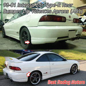 Type R Style Rear Bumper Lip Aprons Abs Fits 98 01 Acura Integra 2dr