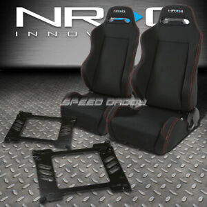 Nrg 2 Type r Red Stitches Racing Seats bracket For 92 95 Honda Civic Eg ej1 eh