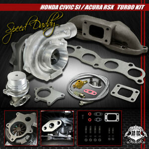 T04e 5 pc Turbo Kit Turbocharger cast Manifold wastegate 02 11 Civic Si 06 Rsx