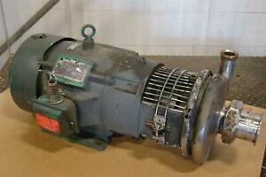 Reliance Electric Motor 7 5 Hp 230 460v 20 8 10 Amps 215tc Tri flo Pump C215md2