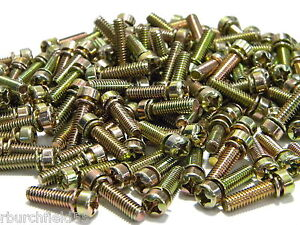 Holley Carburetor Throttle Body Base Plate Screws Ccs Aed Quick Fuel 100 Pack