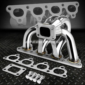 T25 T28 Stainless Steel Turbo Manifold Exhaust 88 00 D Series D15 D16 Civic Crx