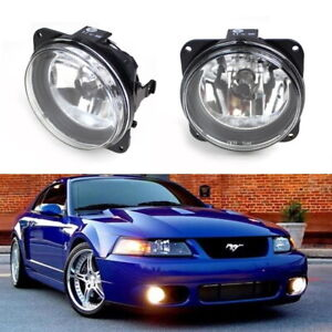 Complete Clear Lens Fog Lights W bulbs For Ford Escape Mustang Cobra Focus Svt