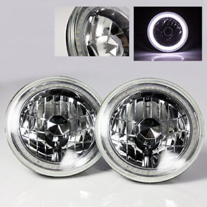 97 18 Jeep Wrangler Tj Jk 7 White Led Smd Halo Round Chrome Clear Headlights