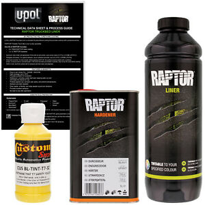 U Pol Raptor Tintable Safety Yellow Spray On Truck Bed Liner Coating 1 Liter