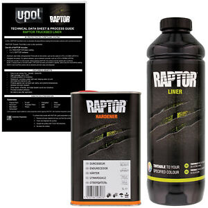 U Pol Raptor Tintable Spray On Truck Bed Liner Coating 1 Liter
