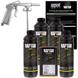 U Pol Raptor Tintable Spray On Truck Bed Liner Spray Gun 4 Liters