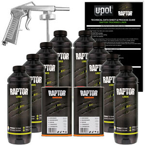 U Pol Raptor Tintable Spray On Truck Bed Liner Spray Gun 8 Liters