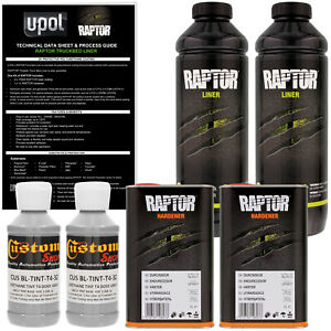 U pol Raptor Tintable Dove Gray Spray on Truck Bed Liner Coating 2 Liters