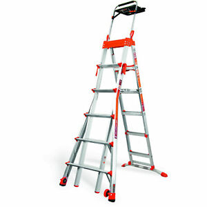 Little Giant 15109 001 6 feet 10 feet 300lb Rating Adjustable Select Step Ladder