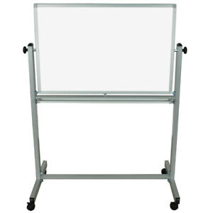 Luxor Mb3624ww 36 X 24 Double sided Whiteboard With Aluminum Frame And Stand