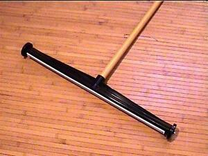 New Magnet Clean Push Broom 24 Sweeper 48 Handle E z Off Home Garage School