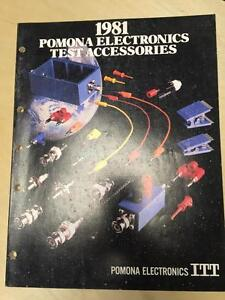 1981 Itt Pomona Electronics Catalog Test Equipment Accessories Probes Cords