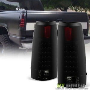 Black Smoke 1988 1998 Chevy Silverado Gmc Sierra Suburban Tahoe Led Tail Lights