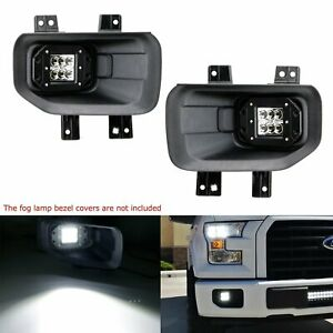 24w Cree Led Pods W Foglight Location Brackets For Ford 15 F150 17 F250 F350