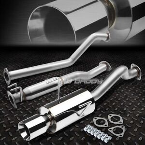 For 02 06 Rsx Dc5 Type s K20a2 4 rolled Muffler Tip Racing Race Catback Exhaust