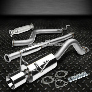 4 Rolled Muffler Tip Racing Catback high Flow Exhaust Pipe For Del Sol Eg Eh6