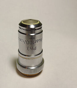 Zeiss Ph3 Neofluar 100x 1 30 Oil 160 Microscope Objective Lens