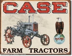 Vintage Replica Tin Metal Sign Case Farm Tractor Used Here Equipment Logo 1230