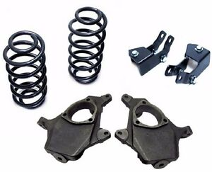 2000 06 Chevy Tahoe Gmc Yukon 2 4 Lowering Suspension Drop Kit Spindle Coil
