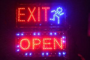 2 Open Closed Led Sign Exit Super Bright Two Business Signs Exit Open closed