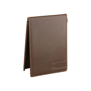 Authentic Gucci Vintage Brown Leather Desk Notepad Cover Notebook Holder