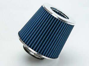2 75 Blue Performance High Flow Cold Air Intake Cone Replacement Dry Filter
