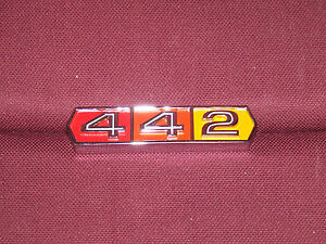 66 Oldsmobile Cutlass 442 Grille Emblem New 1966 Olds Badge Plate Grill