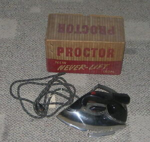 Proctor Never Lift Iron C 1940 S 961a Boxed Art Deco Modern