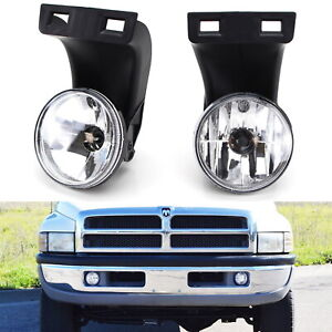 Jdm Clear Fog Lights W 880 Halogen Bulbs For 94 01 Dodge Ram 1500 2500 3500