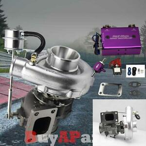 T04e T3 T4 63ar V Band Turbo Turbocharger Dual Stage Boost Controller Purple