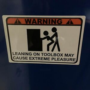 Warning Leaning Overlay Decal Matco Tool Box Cart 6 Colors To Choose From