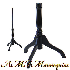 Black Wooden Tripod Stand For Torsos Dress Forms Black Base Mh