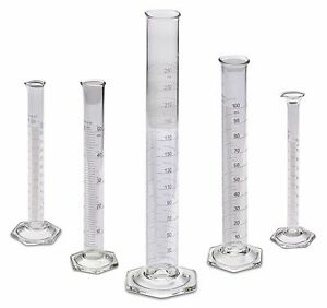 Corning Pyrex 3024 Glass Graduated Cylinder 5 Sizes 10 25 50 100 250ml