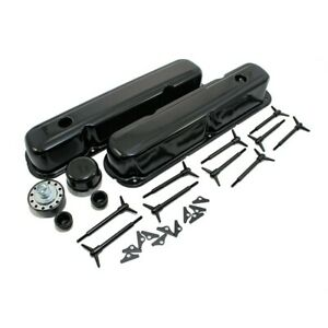 1964 1973 Small Block Mopar Black Valve Cover Kit Dodge Plymouth 273 340 318 360