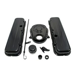 65 95 Bbc Chevy 454 Black Dress Up Kit Short Valve Covers 396 402 427 Big Block