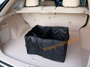 Multipurpose Car Suv Trunk Cargo Organizer Folding Storage Console Collapsible