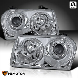 2005 2010 Chrysler 300 Crystal Clear Replacement Projector Headlights Left rig