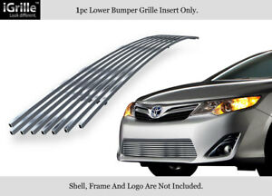 Fits 2012 2014 Toyota Camry Stainless Steel Bumper Billet Grille Insert