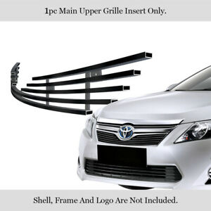 Fits 2012 2014 Toyota Camry Stainless Steel Black Billet Main Upper Grille