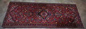 Antique 1900 1930 S American Sarouk Runner Rug 2 7 By 6 6