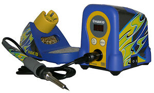 Hakko Fx888d 23by Digital Soldering Station Includes Blue yellow Flame Decals