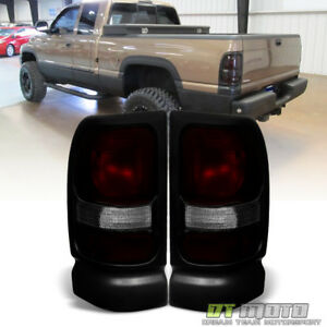 1994 2001 Dodge Ram 1500 2500 3500 Red Smoke Tail Lights Brake Lamps Aftermarket
