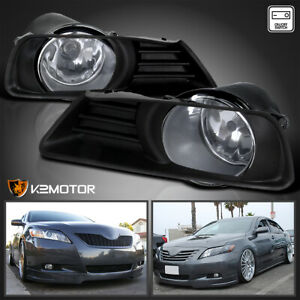 For 2007 2009 Toyota Camry Clear Bumper Driving Fog Lights switch Left right