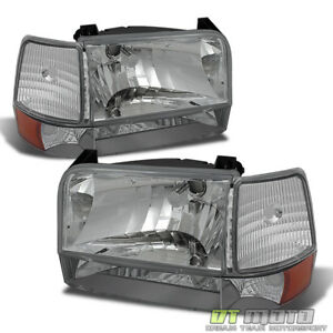 1992 1996 Bronco F150 F250 F350 Headlights Corner Signal Bumper Lamps Left right