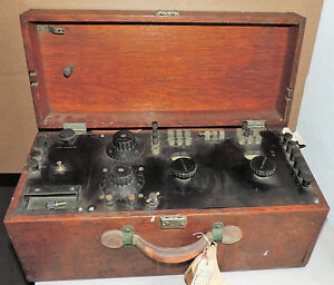 Vintage Leeds Northrup Co Philadelphia Test Equipment 173238 In Mahogany Case